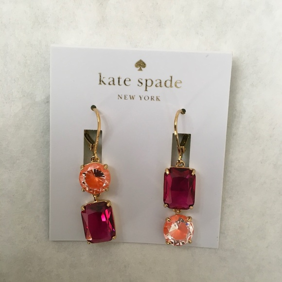 d310cac27d75a 🆕 Kate Spade Shine on Mismatched Drop Earrings NWT